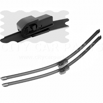 "For Audi A4 (B6) 2001-03 Saloon Front Windscreen 22"" 22"" Flat Aero Wiper Blades"